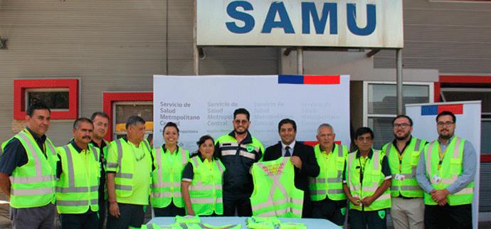 Trabajadores de SAMU capacitados en conducción segura